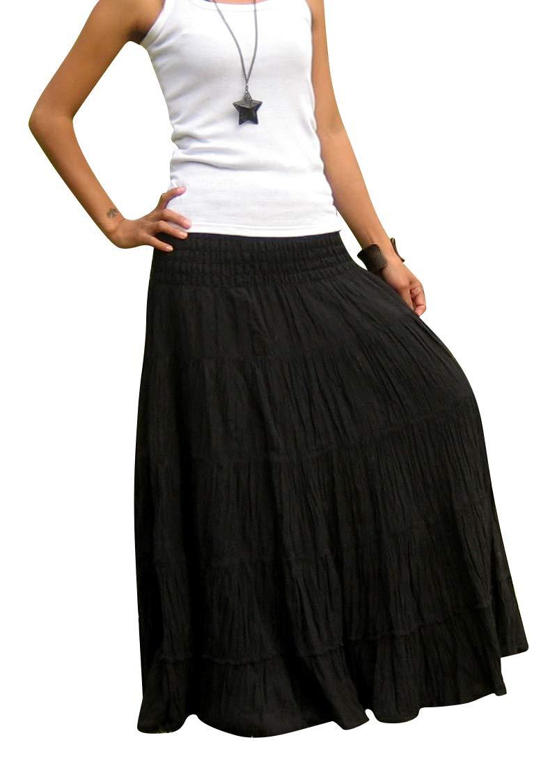 Billy's Thai Shop Tiered Skirt Long Skirts for Women Boho Gypsy Skirts Handmade Maxi Skirts for Women