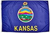 Cheap Annin Flagmakers Model 141870 Kansas State Flag 4×6 ft. Nylon SolarGuard Nyl-Glo 100% Made in USA to Official State Design Specifications.