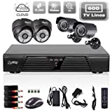 Cheap Liview 4CH CCTV Full D1 DVR Motion Detection 600TVL Outdoor Indoor Night Vision Camera System Home Security System Kits