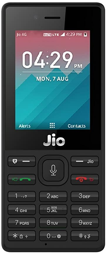 low priced eaf08 09de6 Jio LYF F2403 with Back Cover (Black)