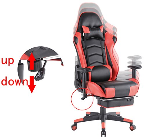 top gamer high back racing chair computer desk office chair with