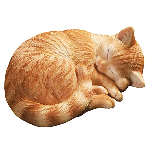 Hand painted Sleeping Garden Statue Orange