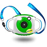 """Digital Camera for Kids with Flash, 1.44"""" Full-Color TFT Display Image and Video Camera, Perfect for Children (Green)"""