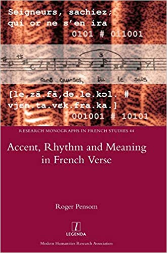 Amazon com: Accent, Rhythm and Meaning in French Verse (Research
