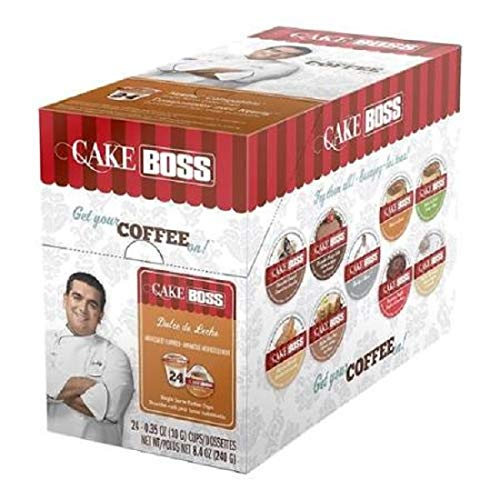 - Cake Boss Coffee, Dulce De Leche Flavored Coffee, Single Serve Cups for the Keurig K Cup Brewer, 24Count.