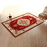 Household mats bathroom and kitchen carpet living room Ottomans bedroom door door mat -5080cm Wine Red