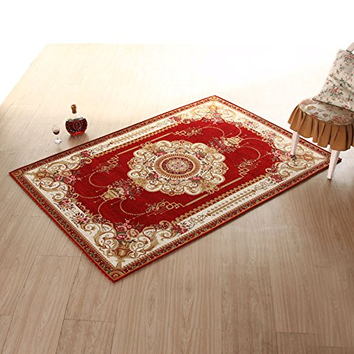 Household mats bathroom and kitchen carpet living room Ottomans bedroom door door mat -5080cm Wine Red by ZYZX