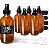 glass Amber Glass Spray Bottles (4oz) - 6 pack - Small Empty Bottle for Essential Oils and Cleaning Solutions Mist