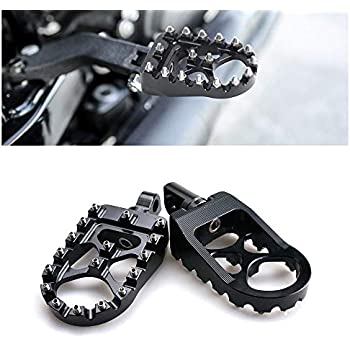 AnXin CNC Wide Foot Pegs Footpegs Foot Rests Pedals 360/°Roating MX Chopper Bobber Style For Harley Davidson Dyna Iron 883 Sportster Fatboy Bobber Softail Street Glide Road Glide CVO Ultra Wide