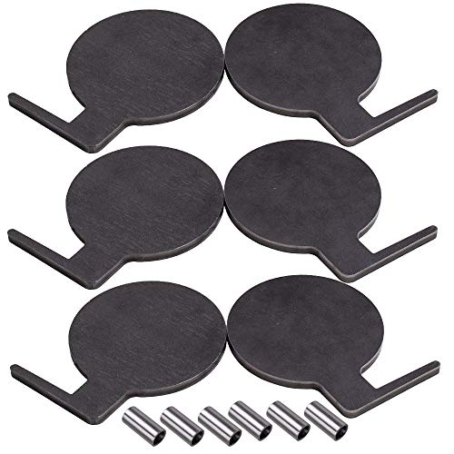 "AR500 Dueling Tree Steel Target 6pcs 6"" x 3/8"" Pads DIY Shooting UDV"