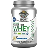 Garden of Life Sport Certified Grass Fed Clean Whey Protein Isolate, Vanilla, 23oz (1lb 7oz / 652g) Powder