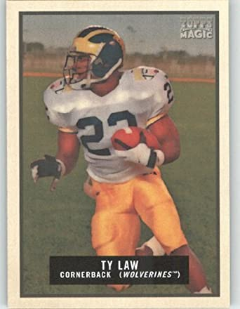 huge discount d0b3a fa892 Amazon.com: Ty Law - Michigan - New York Jets - 2009 Topps ...
