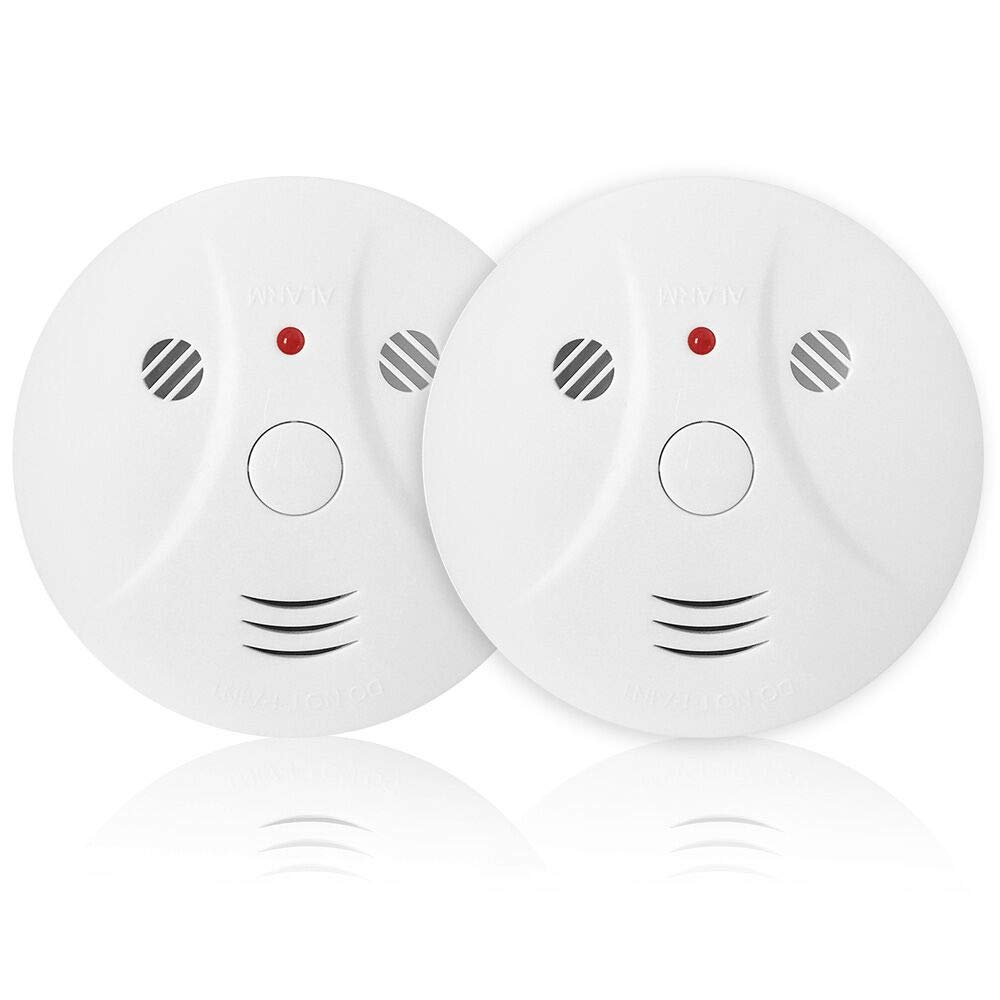 Combination Photoelectric Smoke Alarm and Carbon Monoxide Detector, Protect Your Home from Fire and Gas Leaks, Even When You're Away, 9V Battery Operated (Two Pack) by Lecoolife
