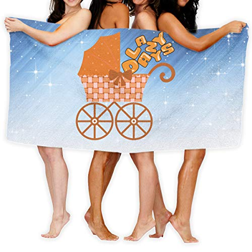 Aiguan Bath Towel Lazy Days Happy Hour Customize Soft Large Swim Beach Towels