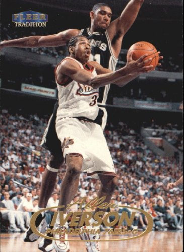 1998 Fleer Basketball Card (1998-99) #3 Allen Iverson Near Mint/Mint