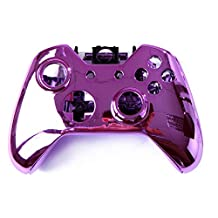 Kobwa Wireless Controller Replacement Mod Kit Plating Shell Case for Xbox One Wireless Controller Chrome Purple