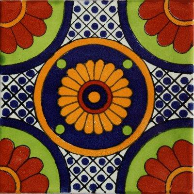 Amazon.com: 6 x 6 4 pcs Bacanora Talavera mexicana azulejo ...