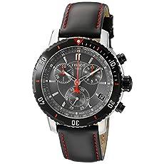 Tissot Men's T0674172605100 PRS 200 Black Chronograph Dial Watch