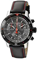 Tissot Men's T0674172605100 PRS 200 Black Chronograph Dial Watch