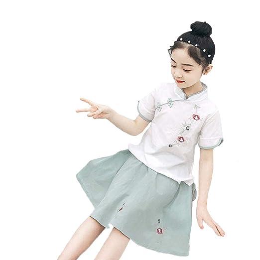 YCWY Vestido Vintage, Vestido Vintage de niña Traje de Baile ...