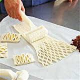 Plastic Bread Cookies Pie Cake Cutter Baking Dough Roller Kitchen Pastry Roll Modeling Craft Tool-