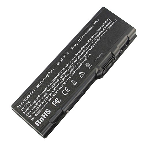 ARyee 5200mAh 11.1V 6000 Battery Laptop Battery Replacement for Dell Inspiron 6000 E1505n XPS M170 9200 E1705 XPS M1710 9300 XPS Gen 2 9400 ()