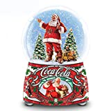 COCA COLA Santa Musical Glitter Globe Lights Up and Plays Jingle Bells by The Bradford Exchange