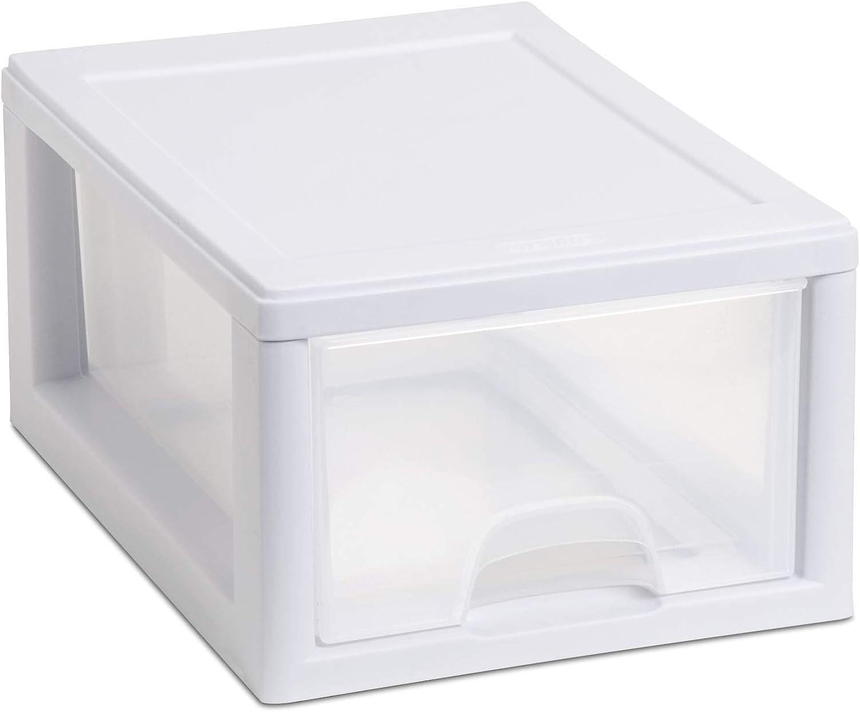 "Sterilite Corp. 20518006 Sterilite Stackable Storage Drawer 12 7/8"" D x 8 7/8"" W x 6"" H"