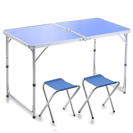 mesa plegable Peaceip Mesa y sillas Plegables al Aire Libre ...