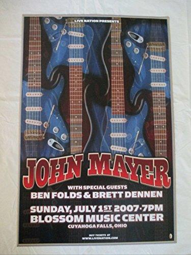 2007 John Mayer Guitar Concert Poster