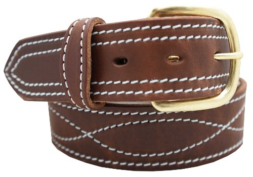 Men's Harness Leather Work Belt 1 1/2