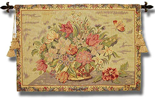 (Gobelins Classic 17th Century Flemish Bouquet Floral Wall Hanging Art Tapestry Decor Still Life 27
