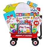 Baby Gift Basket in Mini Radio Flyer Wagon | Great First Christmas, Easter or Valentines Gift for Babies