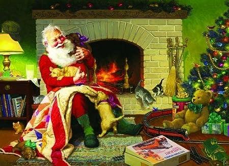 Cobble Hill Santa's Favorite Quilt 1000 Piece Jigsaw Puzzle