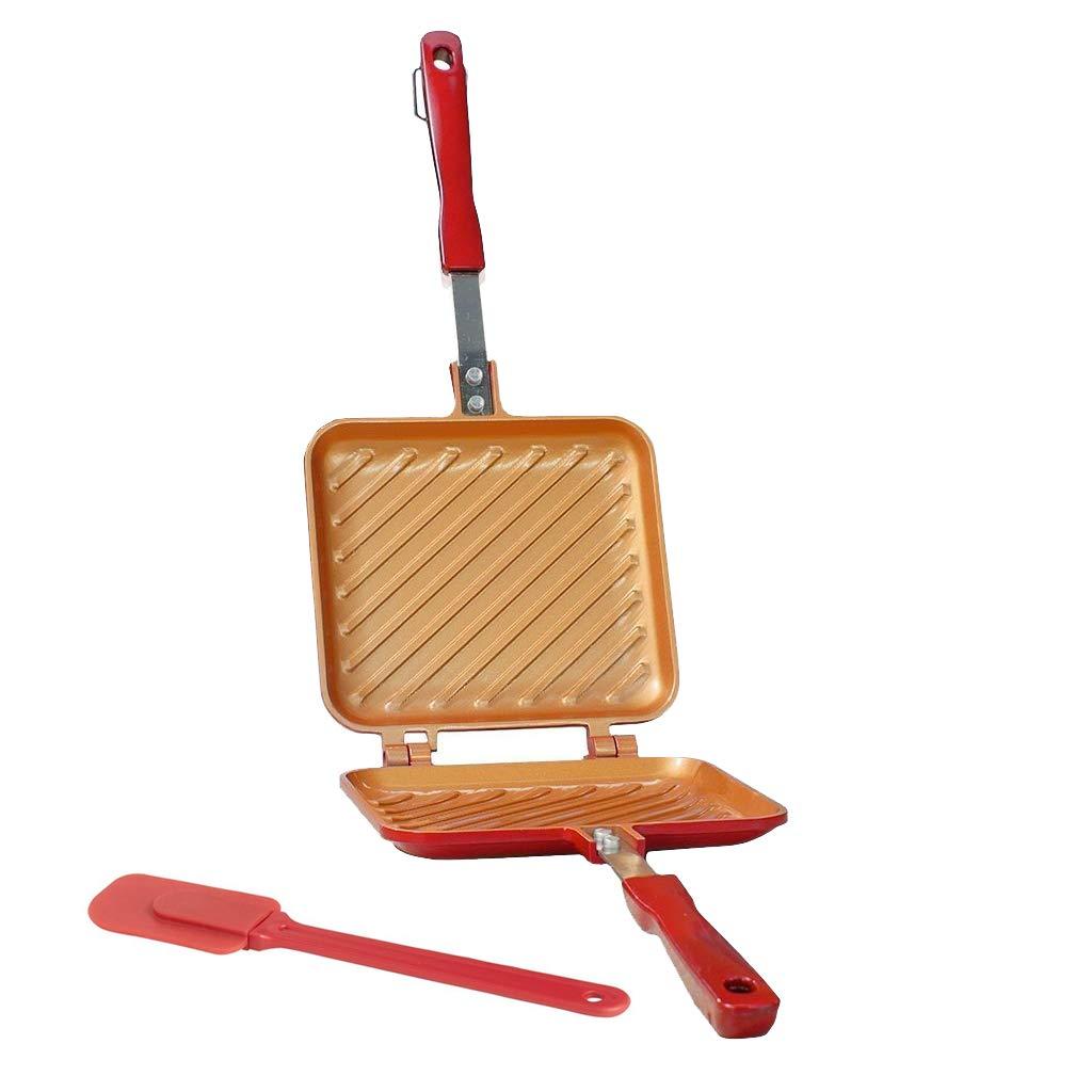 Poêle 16x15cm Tous Feux Dont Induction pour Toaster Flip Grill Griller et rôtir en Un Tour de Main Spatule en Silicone