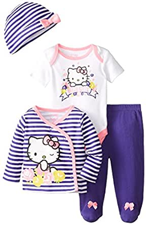 hello kitty baby girls 39 4 piece set multi 9 months clothing. Black Bedroom Furniture Sets. Home Design Ideas