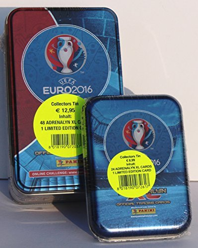 Panini Adrenalyn XL EURO 2016 - Set Tin + Mini Tin incl. limited Edition Ramos & Buffon by Panini by Panini