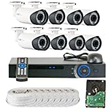 GW 8 Channel 1080P Preview 720P Realtime (8) Varifocal Zoom 200 feet IR Night Vision Outdoor/Indoor Security Camera DVR System with Pre-Installed 2TB Hard Drive Review