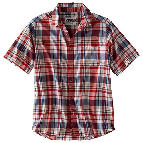 Mountain Khakis Mens Tomahawk Madras Shirt: Outdoor Casual Shirt, Engine Red, Large ()