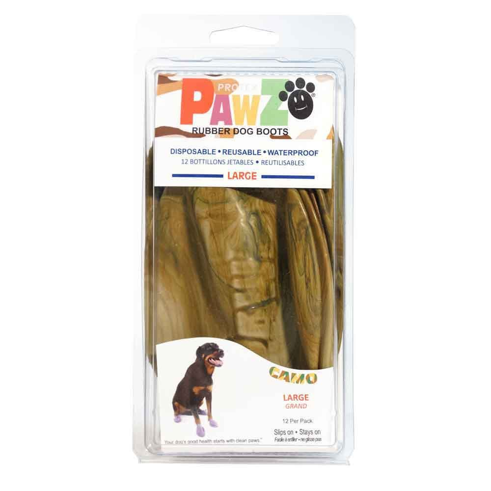 Pawz Dog Boots PZCML up to 4'' Camo Water-Proof Dog Boot, Large