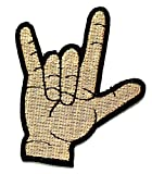 Nipitshop Patches I Love You Hand Sign Hold Finger