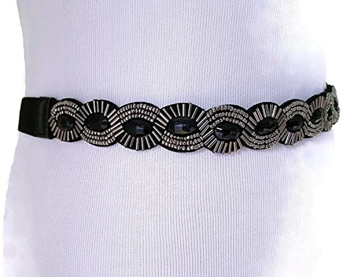 Black Beaded Belt (Style & Co. Scalloped Beaded Stretch Belt)