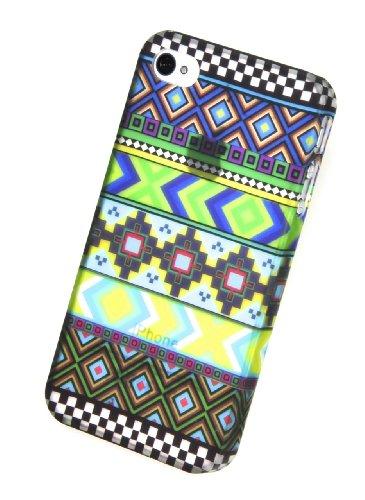 Circle Case Coque pour iPhone 4/4S Motif Aztec Tribal
