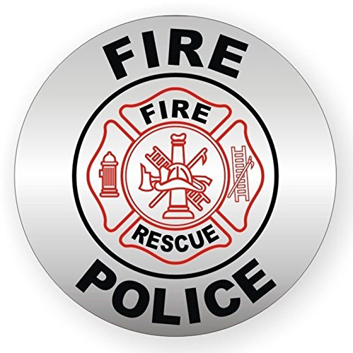 1-Pcs Magnificent Unique Fire Police Rescue Window Stickers Signs Mac Apple Macbook Laptop Luggage Wall Graphics Safe Work Shop Windows Stick Decals Decor Vinyl Art Sticker Decal Patches Size 2