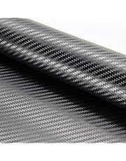 ZOEON 2 rollen 3D-autofolie carbon folie sticker 1520 x 300 mm DIY sticker wrapping met luchtkanalen voor auto