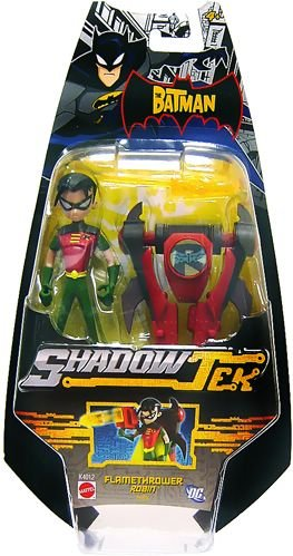 (The Batman Shadow Tek Ultra Action Figure Flamethrower Robin)
