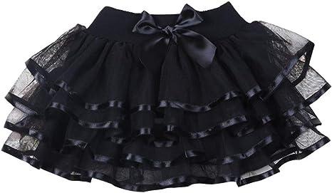 Ksnrang - Falda tutú para niñas pequeñas de 4 Capas de Tul para ...