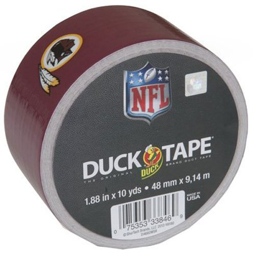 (Duck Brand 281538 Washington Redskins NFL Team Logo Duct Tape, 1.88-Inch by 10 Yards, Single Roll)