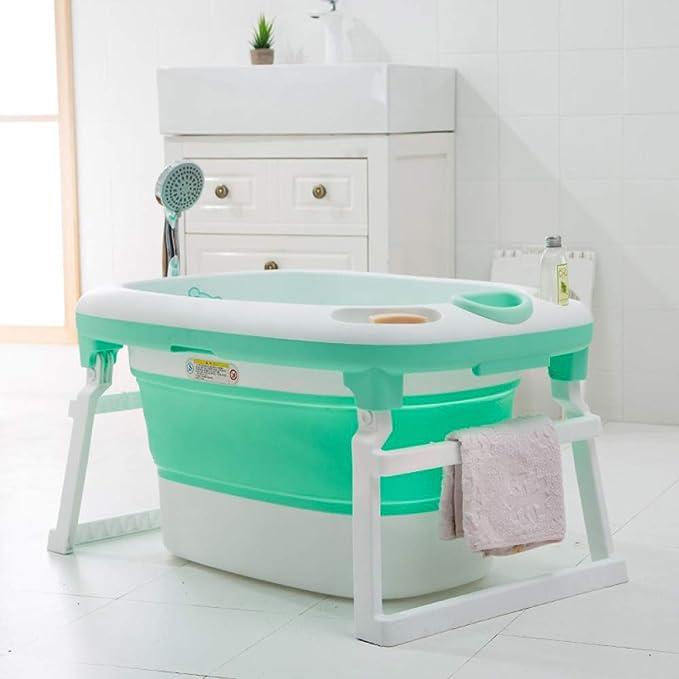 pieghevole vasca da bagno con rete da bagno rosa Vasca da bagno per ragazze rosa per bambini