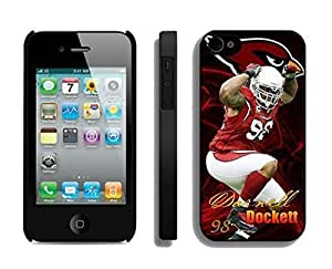 NFL&Arizona Cardinals Darnell Dockett iphone 4 4S phone cases&Gift Holiday&Christmas Gifts PHNK626124 by heywan